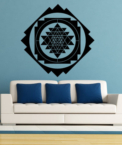 Sri Yantra Diamond Pattern Wall Decal. #OS_MB1253