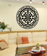 Sri Yantra Vinyl Wall Decal Sticker.  #OS_MB1256