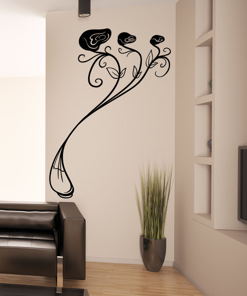 Vinyl Wall Decal Sticker Snakelike Roses #OS_MB1258