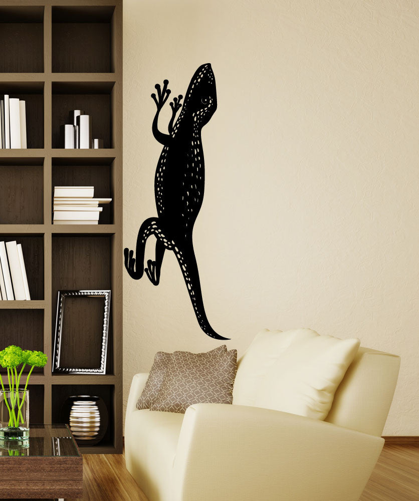 Vinyl Wall Decal Sticker Crawling Lizard #OS_MB1264