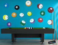 Graphic Wall Decal Sticker Billiard Pool Balls #OS_MB130