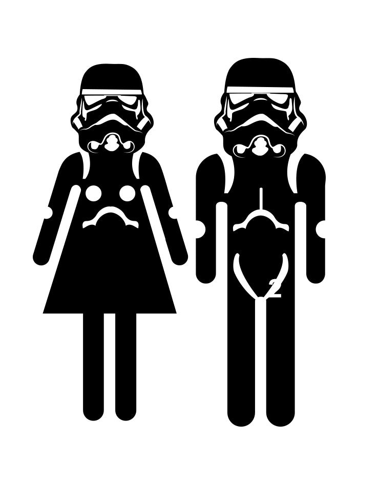 Vinyl Wall Decal Sticker Restroom Sign StormTrooper #OS_MB159