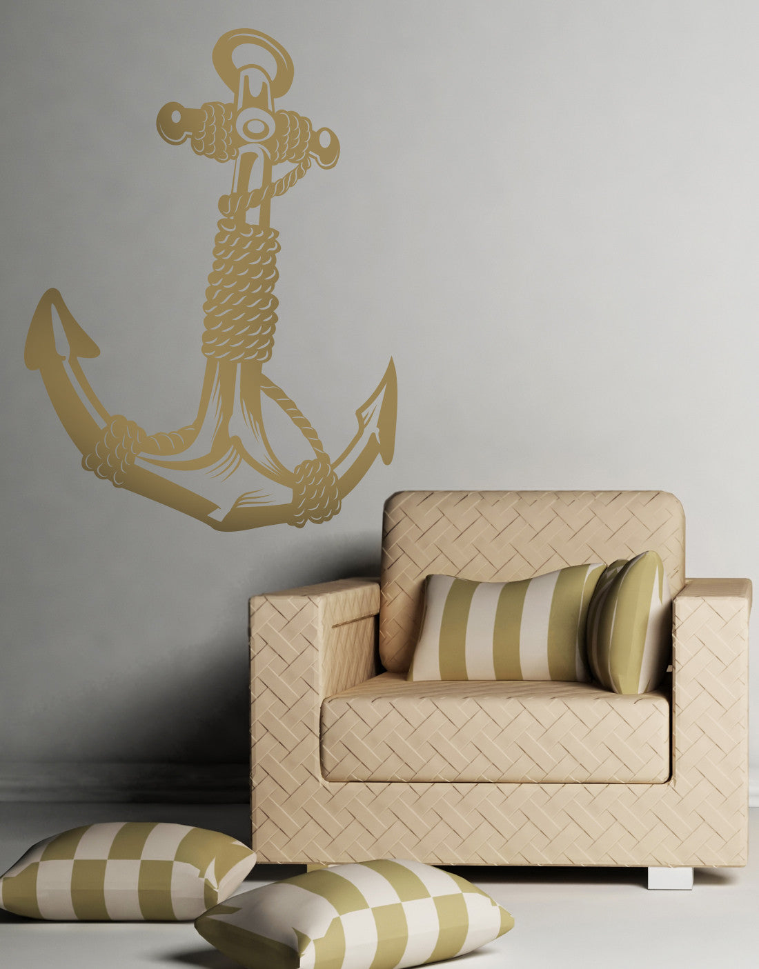 Anchor with rope vinyl wall decal sticker osmb168 amipublicfo Image collections