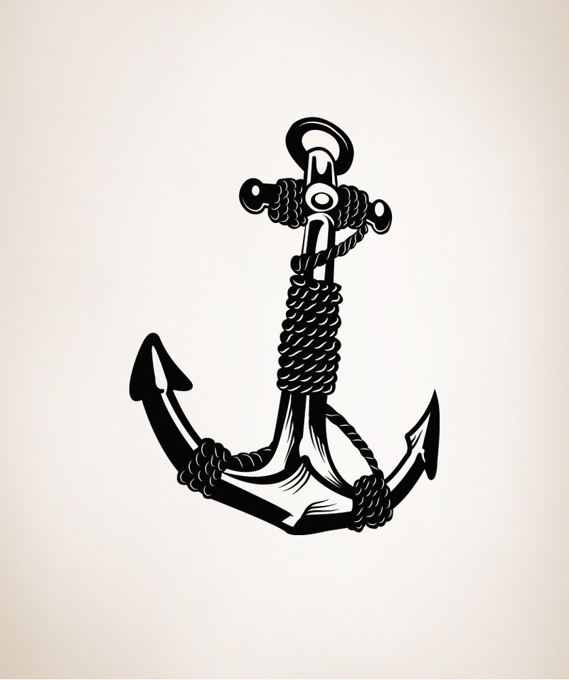 Anchor with rope vinyl wall decal sticker os mb168