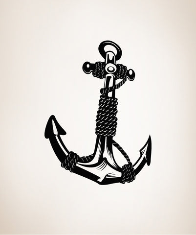 Anchor With Rope Vinyl Wall Decal Sticker #OS_MB168