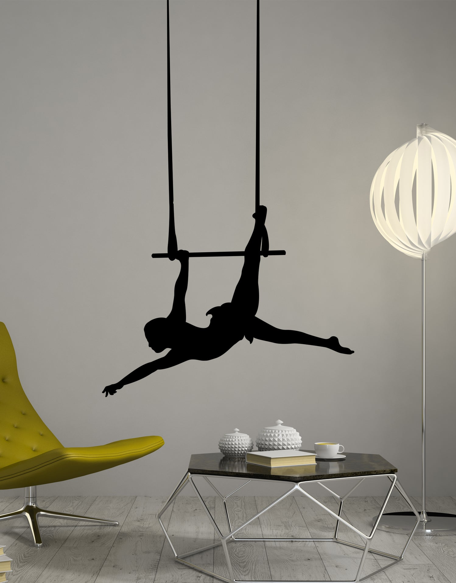 Trapeze Solo Act Vinyl Wall Decal Sticker. Circus Themed room. #OS_MB193
