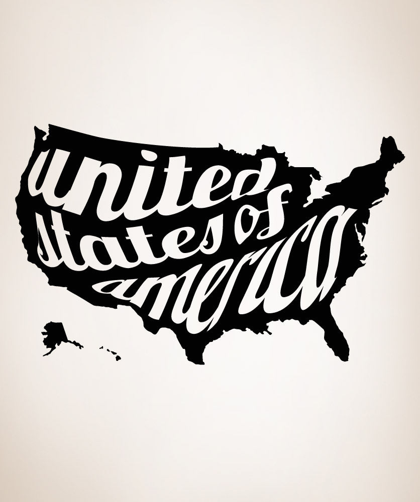 Vinyl Wall Decal Sticker United States of America #OS_MB196