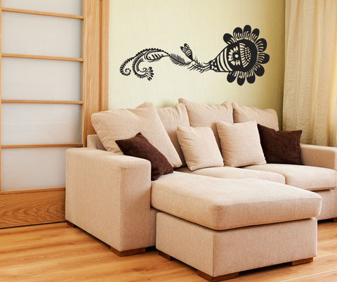 Vinyl Wall Decal Sticker Paisley Flower #OS_MB239