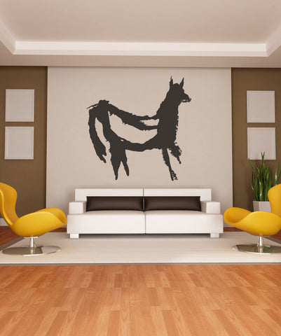 Vinyl Wall Decal Sticker Llama Cave Painting #OS_MB265
