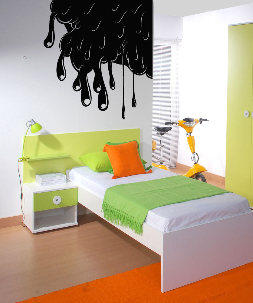 Vinyl Wall Decal Sticker Slime in Wall Corner #OS_MB271