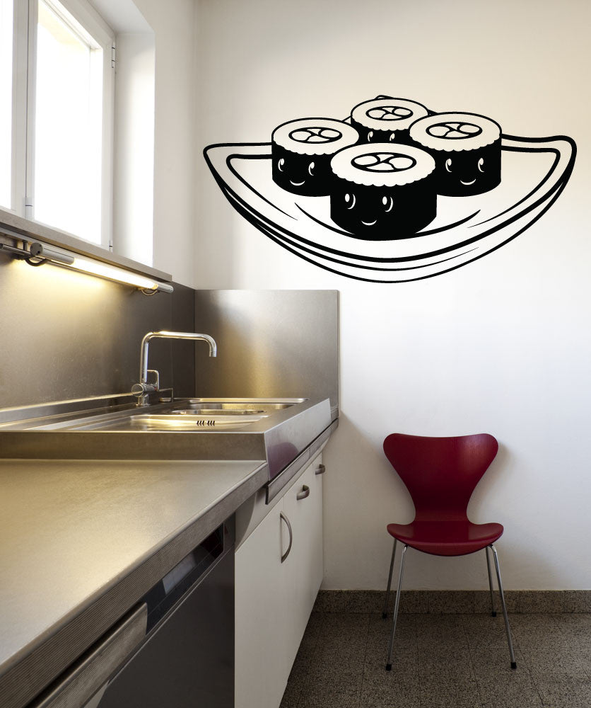 Vinyl Wall Decal Sticker Cartoon Sushi #OS_MB272