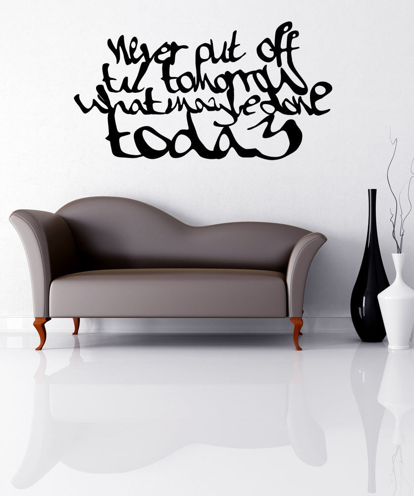 Vinyl Wall Decal Sticker Procrastination Quote #OS_MB286