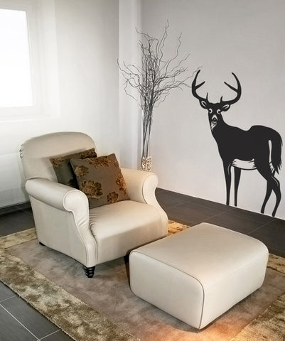 Vinyl Wall Decal Sticker Male Deer #OS_MB307