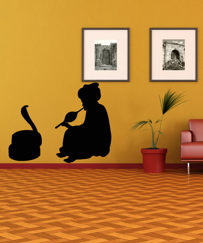 Vinyl Wall Decal Sticker Snake Charmer #OS_MB311