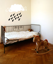 Vinyl Wall Decal Sticker Baby Rain Cloud #OS_MB312