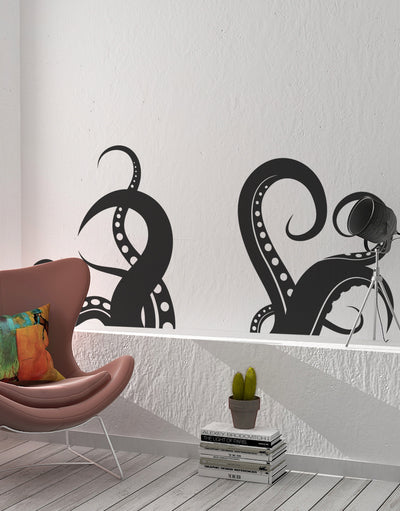 Octopus Tentacles Wall Decal. Perfect for Bathroom Home Decor. #OS_MB316