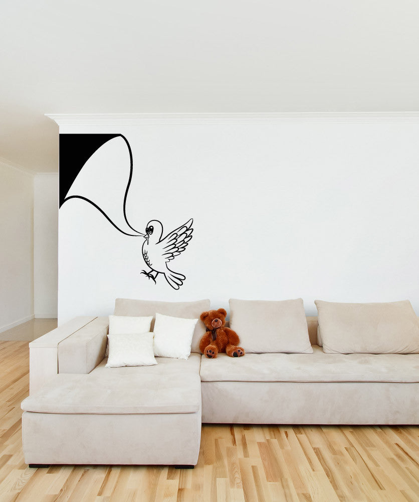 Vinyl Wall Decal Sticker Silly Bird #OS_MB327