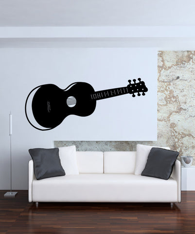 Vinyl Wall Decal Sticker Acoustic Guitar #OS_MB339