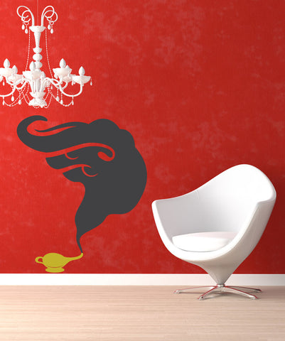 Vinyl Wall Decal Sticker Smoke out of a Genie Lamp #OS_MB381