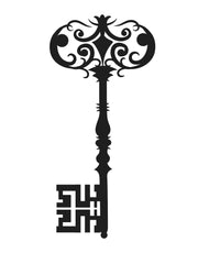 Vintage Skeleton Decorative Key Wall Decal Decor. #OS_MB389