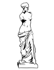 Venus de Milo Statue Wall Decal. #OS_MB514