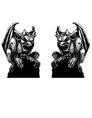 Gargoyles of Notre Dame Statue Wall Decal. Gothic Theme. (Set of 2) #OS_MB536