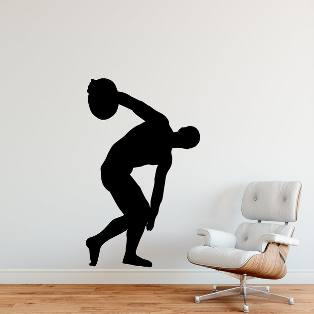 Track and Field Discus Throw Female Silhouette Image svg |Discus Thrower Silhouette