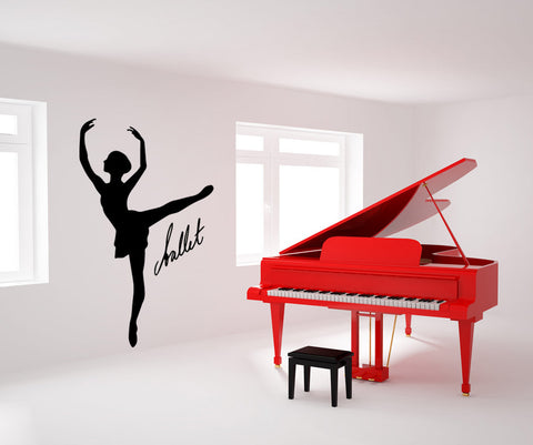 Vinyl Wall Decal Sticker Ballet Dance #OS_MB572