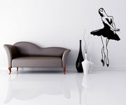 Vinyl Wall Decal Sticker Dancing Ballerina #OS_MB573