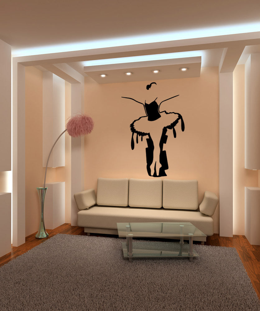 Vinyl Wall Decal Sticker Artistic Ballerina #OS_MB575