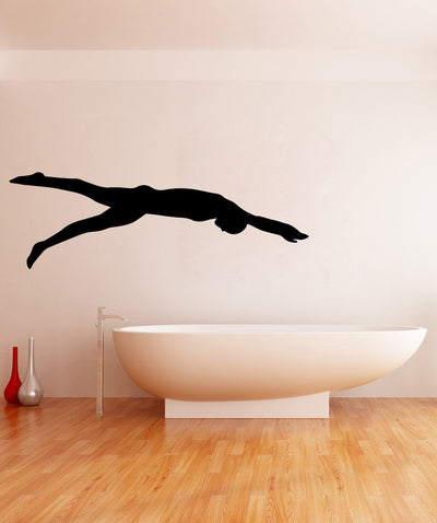 Vinyl Wall Decal Sticker Swimmer Silhouette #OS_MB576