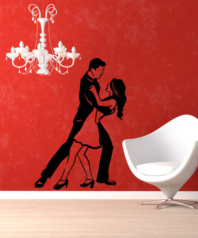 Vinyl Wall Decal Sticker Romantic Dancing #OS_MB580