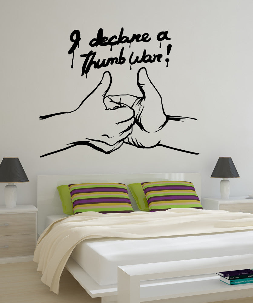 Vinyl Wall Decal Sticker Thumb War #OS_MB581