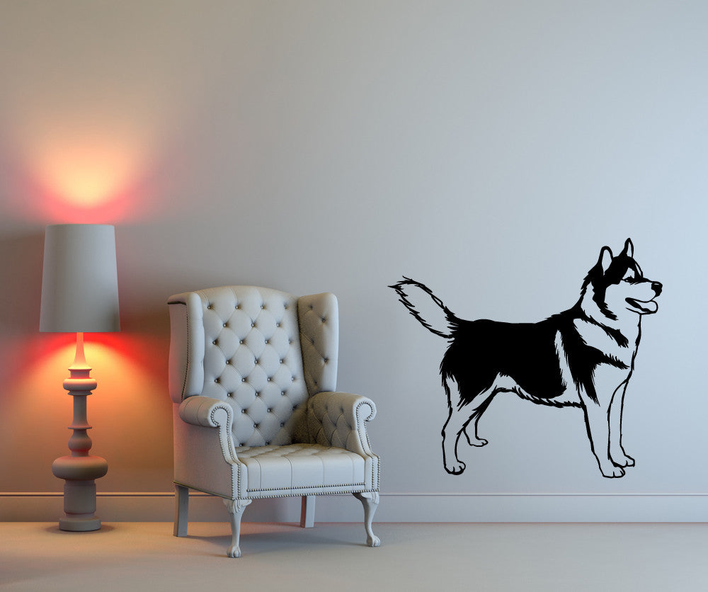 Vinyl Wall Decal Sticker Husky Os Mb583s