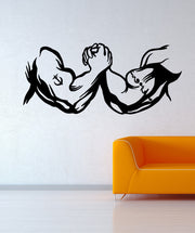 Vinyl Wall Decal Sticker Arm Wrestling #OS_MB585