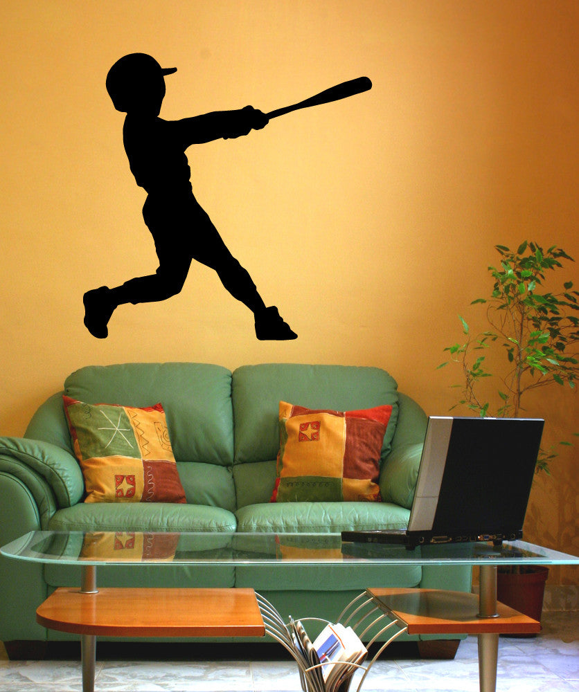 Vinyl Wall Decal Sticker Little League Batter #OS_MB589