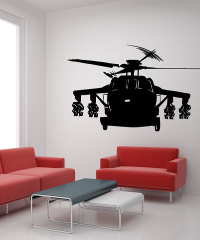 Vinyl Wall Decal Sticker Armed Helicopter #OS_MB599