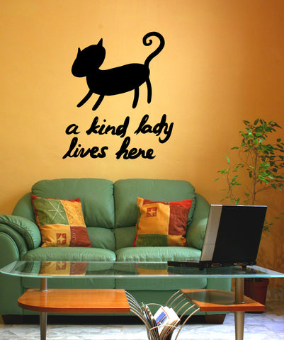 Vinyl Wall Decal Sticker A Kind Lady Lives Here #OS_MB602
