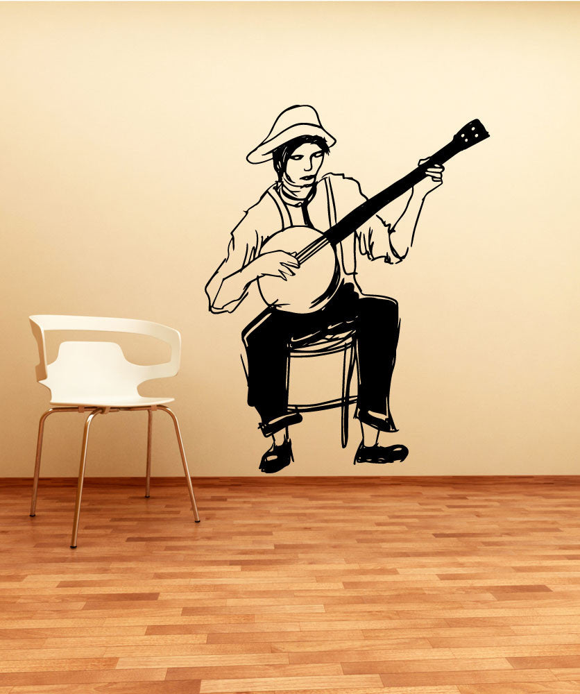 Vinyl Wall Decal Sticker Banjo on My Knee #OS_MB604