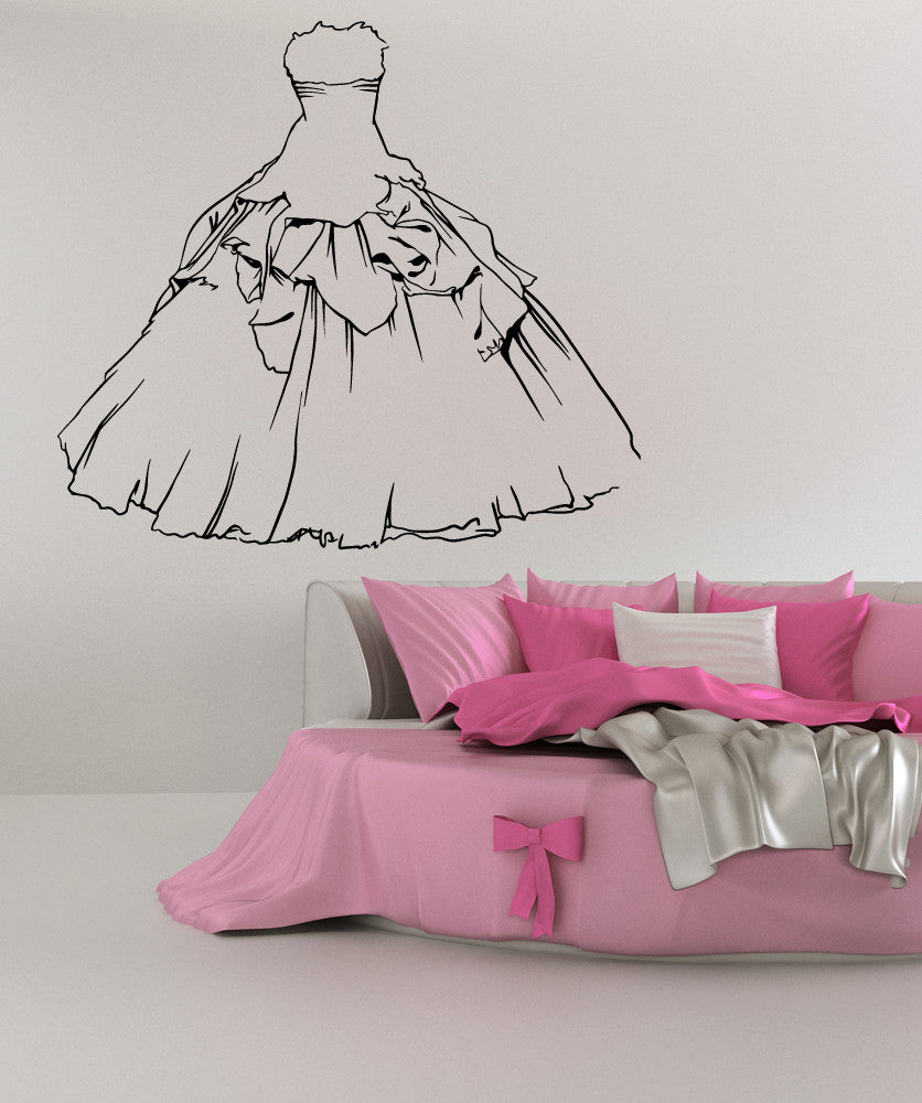 Vinyl Wall Decal Sticker Wedding Dress #OS_MB605
