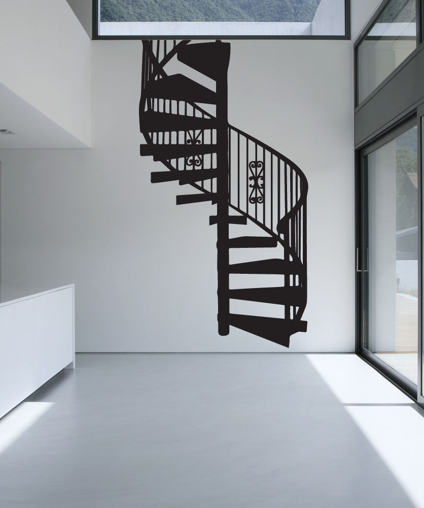 Vinyl Wall Decal Sticker Spiral Stairs #OS_MB607