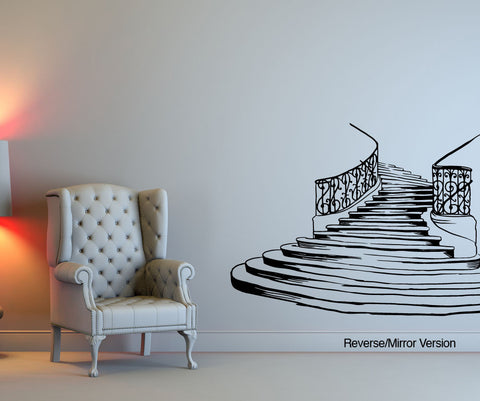 Vinyl Wall Decal Sticker Fancy Stairs #OS_MB610
