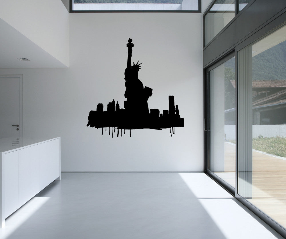 Vinyl Wall Decal Sticker New York Silhouette Os Mb613