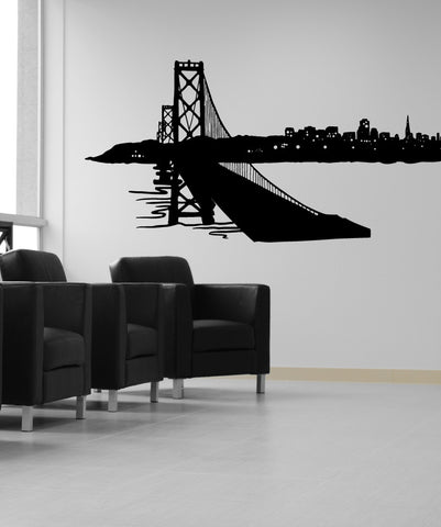 Vinyl Wall Decal Sticker City Skyline #OS_MB615