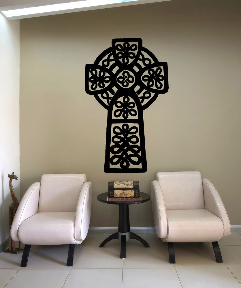 Vinyl Wall Decal Sticker Celtic Cross #OS_MB622