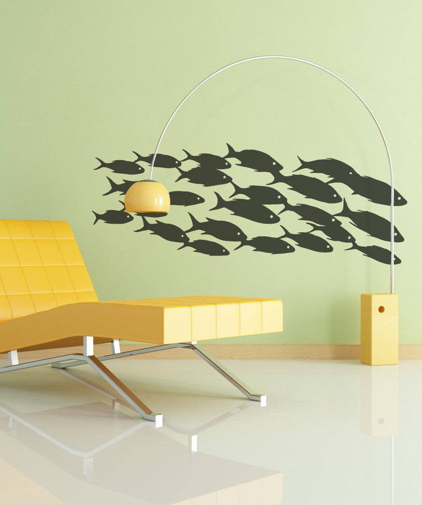 School of fish wall decal fish wall stickers vinyl wall decal sticker school of fish osmb629 amipublicfo Images