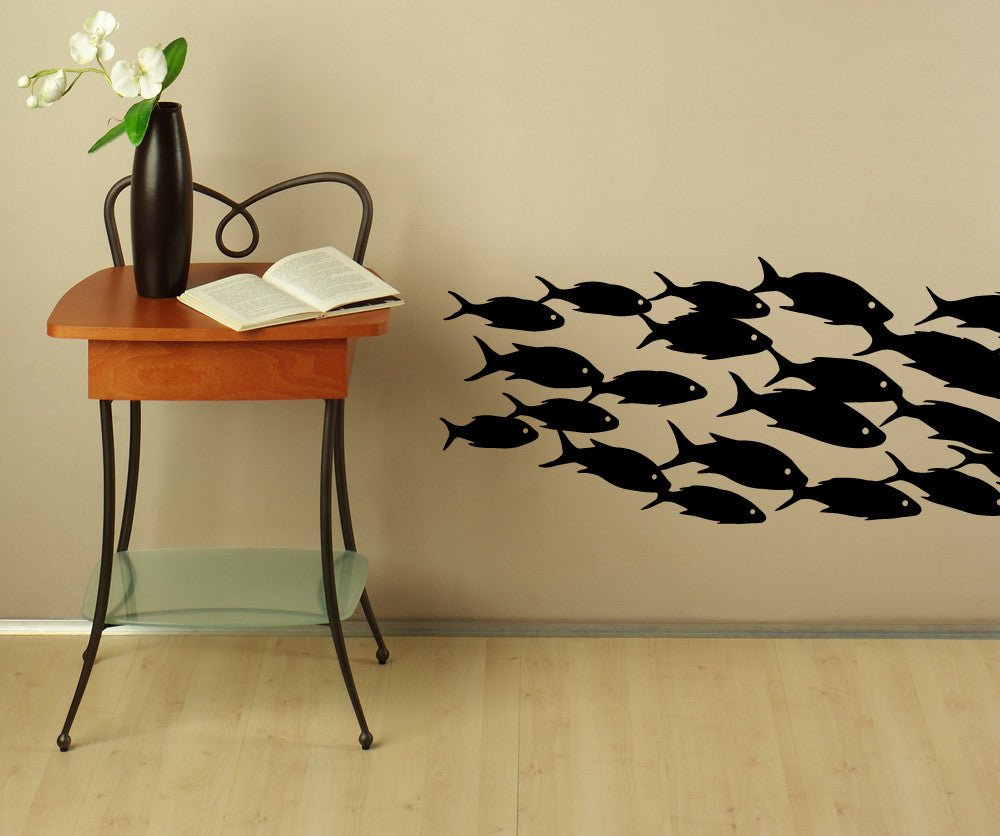 School Of Fish Wall Decal Fish Wall Stickers