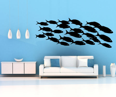 Vinyl Wall Decal Sticker School of Fish #OS_MB629