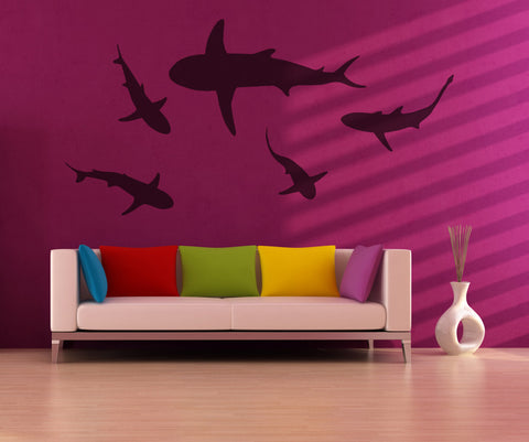 Vinyl Wall Decal Sticker Sharks #OS_MB631