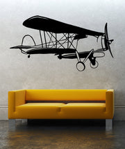Vinyl Wall Decal Sticker Classic Airplane #OS_MB638